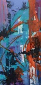 wip, o.T. 2015, acrylic on canvas, 100 x 50