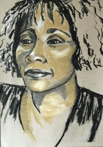 Artelier13-sketches-special faces-Whitney-Houston-Erfurt-Kuechler-Dagmar-2015