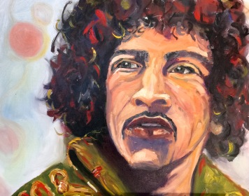 """Jimi Hendrix V"", 2016, oil on canvas, 40x50"
