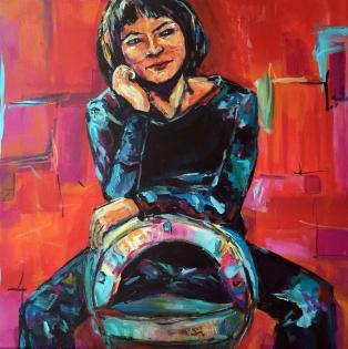 selfie II, 2016, acrylic on canvas, 60x60