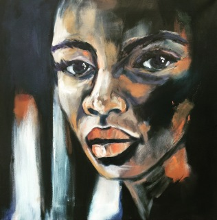 Mayla, 2016, oil on canvas, 60x60